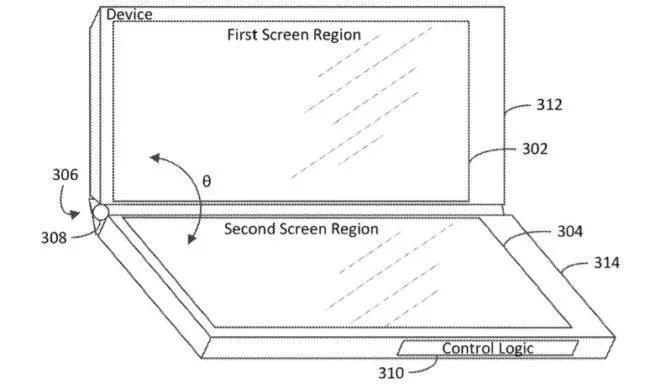 Windows запатентовали гаджет с тремя экранами  | Esmunews